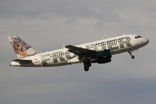 Aerolínea que admite cobayas Frontier airlines